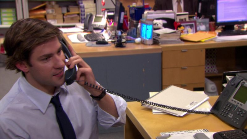"Cisco Phone Used by John Krasinski (Jim Halpert) in The Office – Season 5, Episode 10, ""The Surplus"" (2008) - TV Show Product Placement"