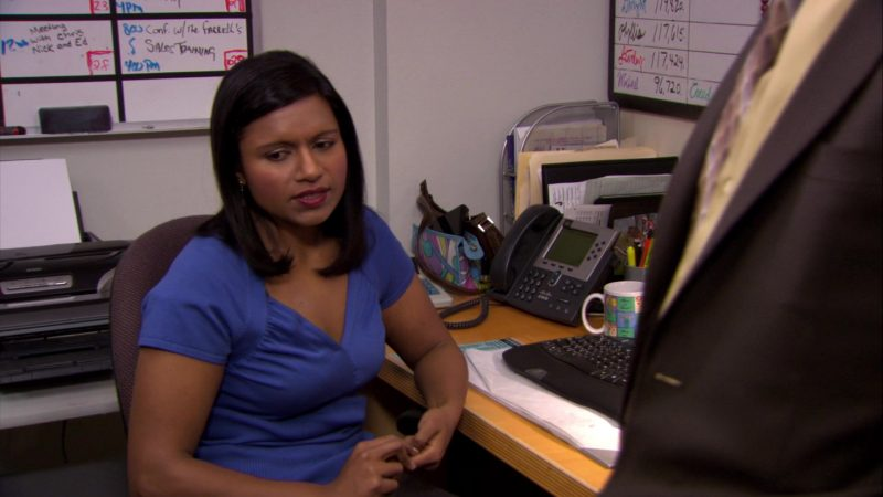 "Cisco Phone Used by Mindy Kaling (Kelly Kapoor) in The Office – Season 6, Episode 23, ""Body Language"" (2010) TV Show Product Placement"