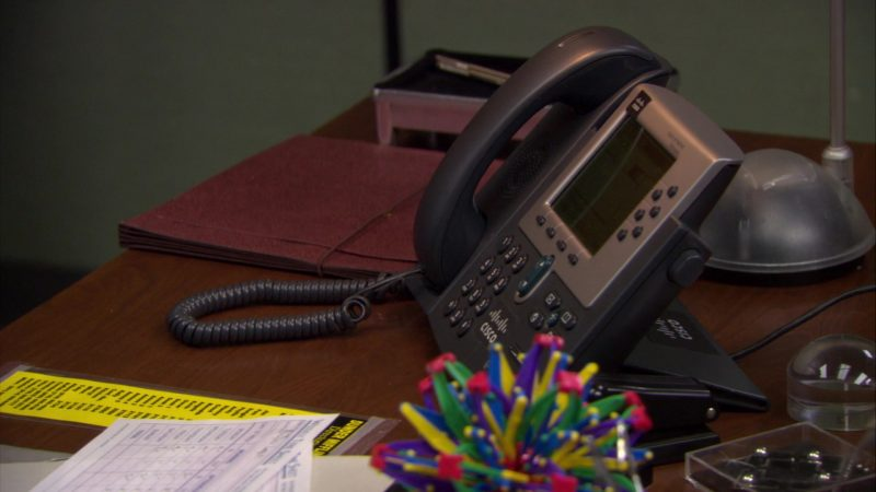 "Cisco Phone Used by Steve Carell (Michael Scott) in The Office – Season 6, Episode 16, ""The Manager and the Salesman"" (2010) TV Show Product Placement"