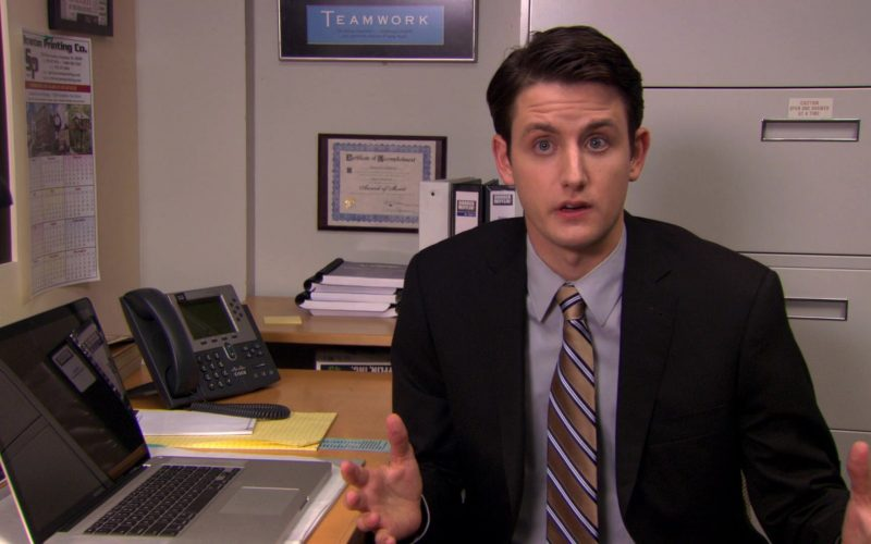 Cisco Phone and Apple MacBook Pro Laptop Used by Zach Woods (Gabe Lewis) in The Office (1)