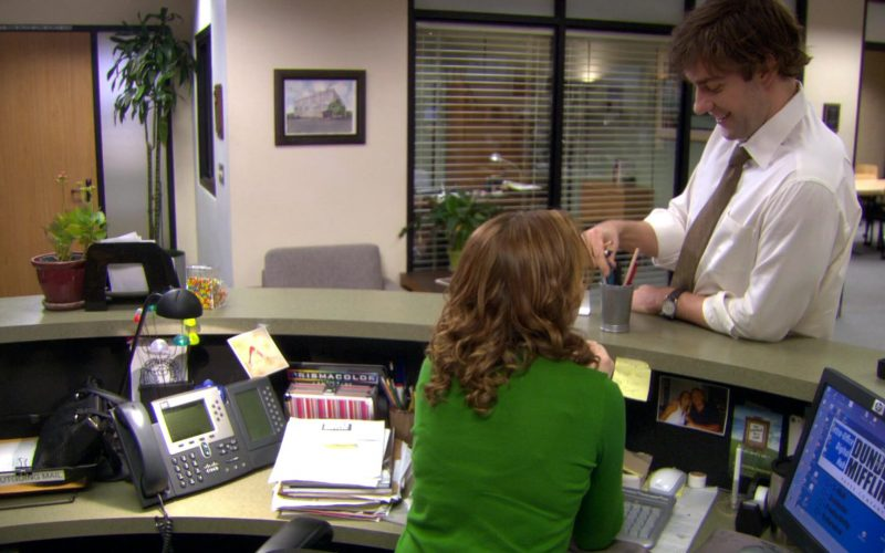 Cisco Phone and HP Monitor Used by Jenna Fischer (Pam Beesly) in The Office (1)