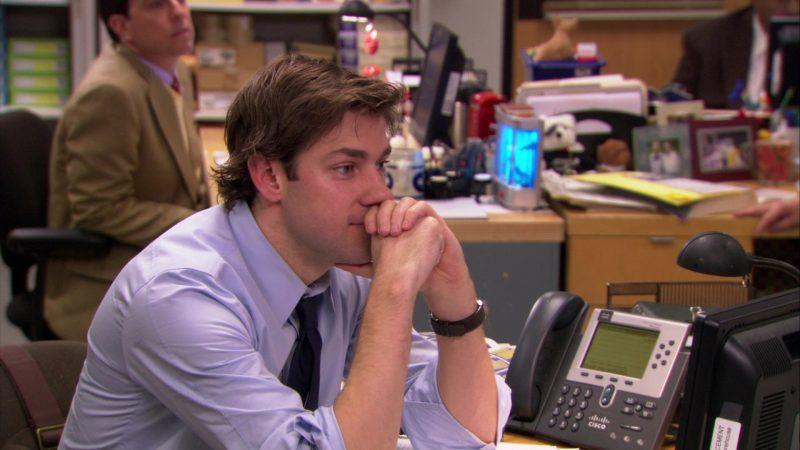 "Cisco Phone Used by John Krasinski (Jim Halpert) in The Office – Season 5, Episode 21, ""Two Weeks"" (2009) - TV Show Product Placement"