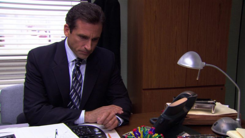 "Cisco Systems IP Phone Used by Steve Carell (Michael Scott) in The Office – Season 3, Episode 8, ""The Merger"" (2006) - TV Show Product Placement"