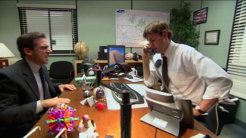 "Cisco Telephone Used by John Krasinski (Jim Halpert) in The Office – Season 2, Episode 5, ""Halloween"" (2005) - TV Show Product Placement"