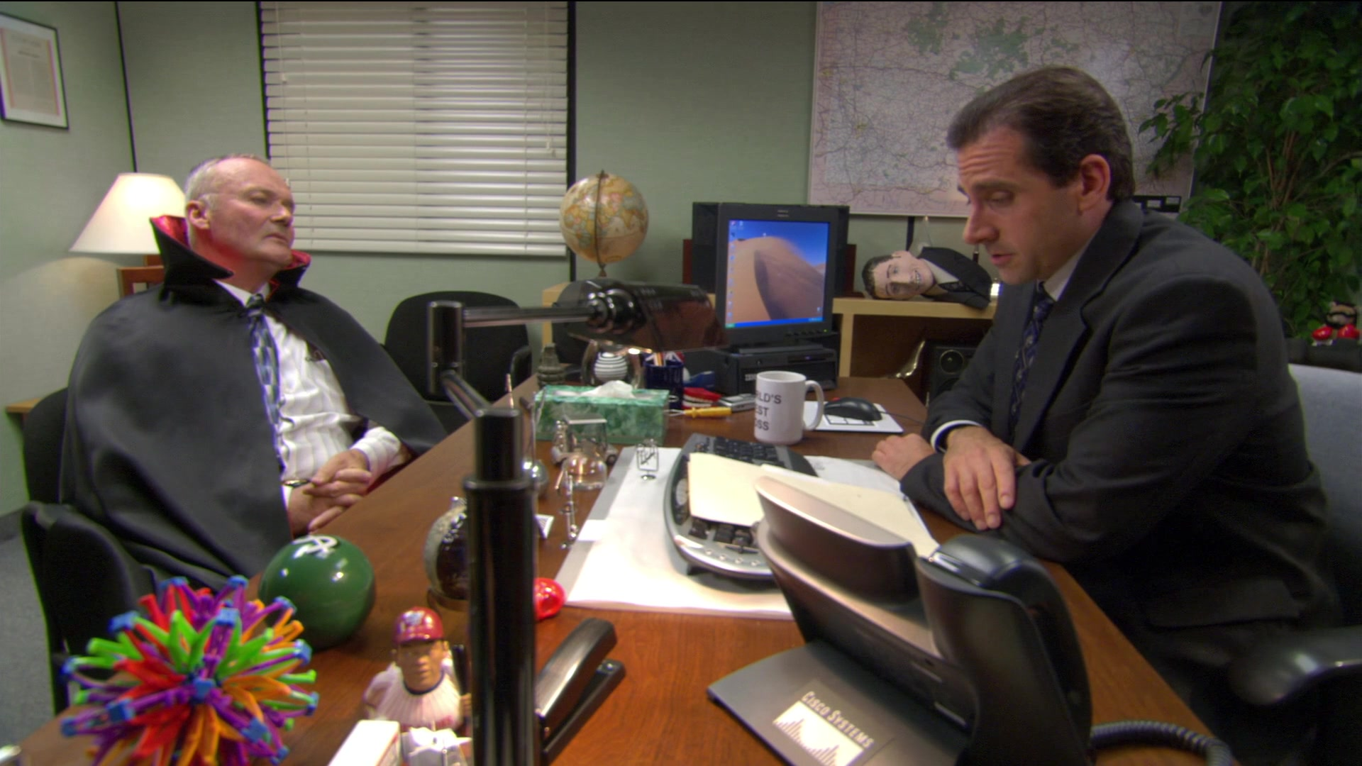 Cisco Telephone Used By Steve Carell Michael Scott In The Office Season 2 Episode 5 Halloween 2005