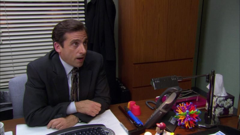"""Cisco Telephone Used by Steve Carell (Michael Scott) in The Office – Season 2, Episode 13, """"The Secret"""" (2006) - TV Show Product Placement"""