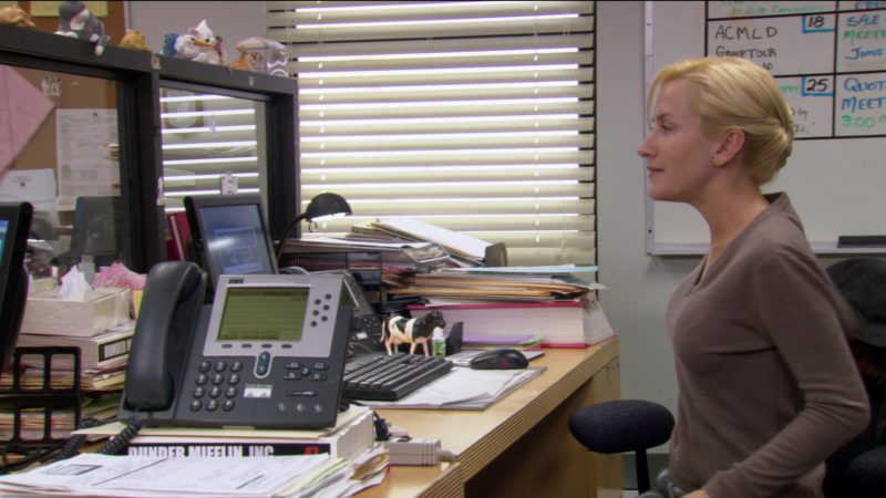 "Cisco Telephone in The Office – Season 2, Episode 17, ""Dwight's Speech"" (2006) - TV Show Product Placement"