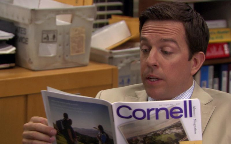 Cornell Alumni Magazine Held by Ed Helms (Andy Bernard) in The Office (3)