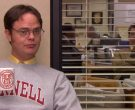 Cornell Sweatshirt and Cup Held by Rainn Wilson (Dwight Schrute) in The Office (1)
