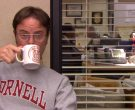 Cornell Sweatshirt and Cup Held by Rainn Wilson (Dwight Schrute) in The Office (2)