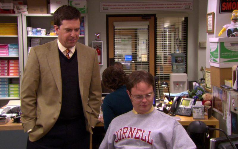 Cornell University Grey Sweatshirt Worn by Rainn Wilson (Dwight Schrute) in The Office (5)