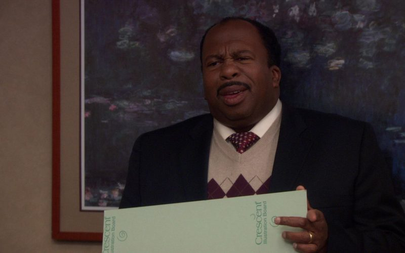 Crescent Illustration Board Held by Leslie David Baker (Stanley Hudson) in The Office (2)