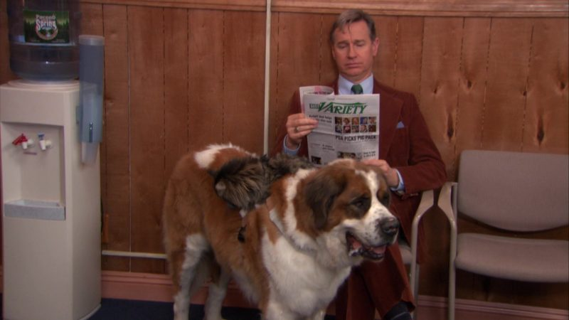 "Daily Variety Newspaper in The Office – Season 9, Episode 19, ""Stairmageddon"" (2013) TV Show Product Placement"
