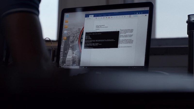 "Dell Notebook Used by Eka Darville in Jessica Jones - Season 3, Episode 3, ""A.K.A I Have No Spleen"" (2019) TV Show Product Placement"