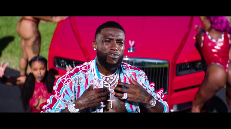 Dolce & Gabbana Bomber Jacket & Sweatpants Worn by Gucci Mane in Backwards feat. Meek Mill (2019) - Official Music Video Product Placement