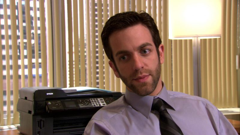 """Epson Printer Used by B. J. Novak (Ryan Howard) in The Office – Season 4, Episode 9, """"Local Ad"""" (2007) - TV Show Product Placement"""