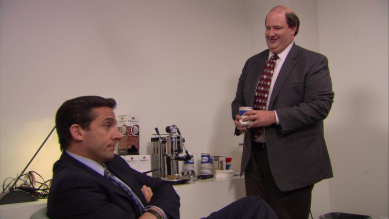 "Espressione Coffee and Coffee Machine in The Office – Season 5, Episode 27, ""Cafe Disco"" (2009) TV Show Product Placement"