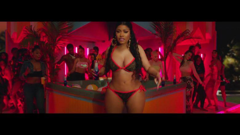 Fendi Bra And Bikini Swimwear Worn By Nicki Minaj In