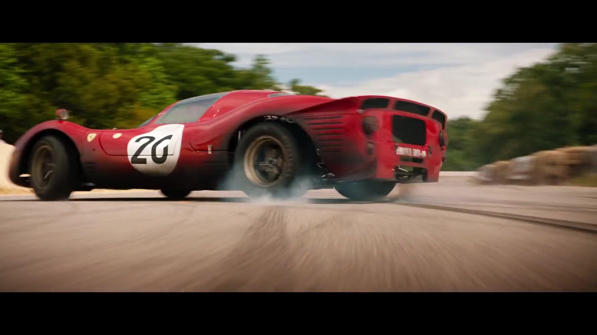 Ferrari 330 P4 Red Sports Car In Ford V Ferrari 2019