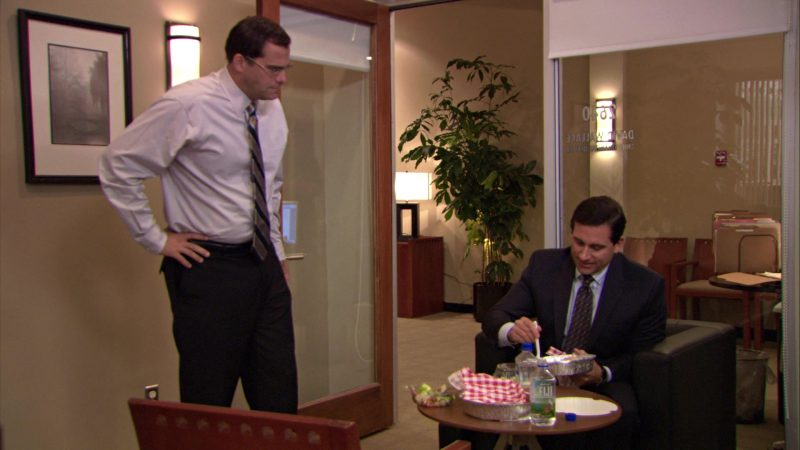 """Fiji Mineral Water in The Office – Season 5, Episode 12, """"The Duel"""" (2009) - TV Show Product Placement"""