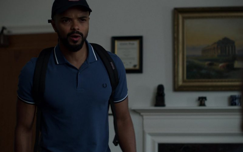 Fred Perry Blue Polo Shirt Worn by Eka Darville in Jessica Jones (3)