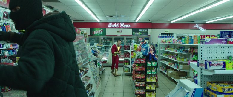 Fritos, Lay's, Baby Ruth, M&M's in Shazam! (2019) - Movie Product Placement
