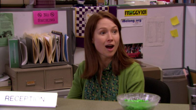 "Froggy 101 Radio Station Sticker in The Office – Season 6, Episode 19, ""St. Patrick's Day"" (2010) - TV Show Product Placement"