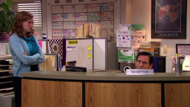 """Froggy 101 Radio Station in The Office – Season 5, Episode 10, """"The Surplus"""" (2008) - TV Show Product Placement"""