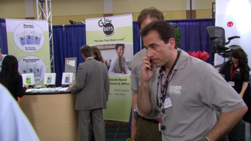 "Glue Dots in The Office – Season 3, Episode 2, ""The Convention"" (2006) TV Show Product Placement"