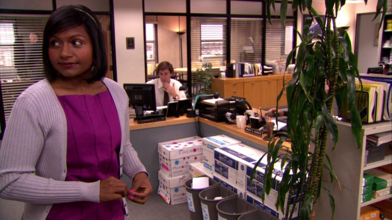 """HP Monitor, Boise Fireworx and Aspen Laser Paper in The Office – Season 5, Episode 16, """"Lecture Circuit: Part 1"""" (2009) - TV Show Product Placement"""
