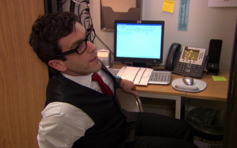 HP Monitor, Cisco Phone and Logitech Speakers Used by B. J. Novak (Ryan Howard) in The Office