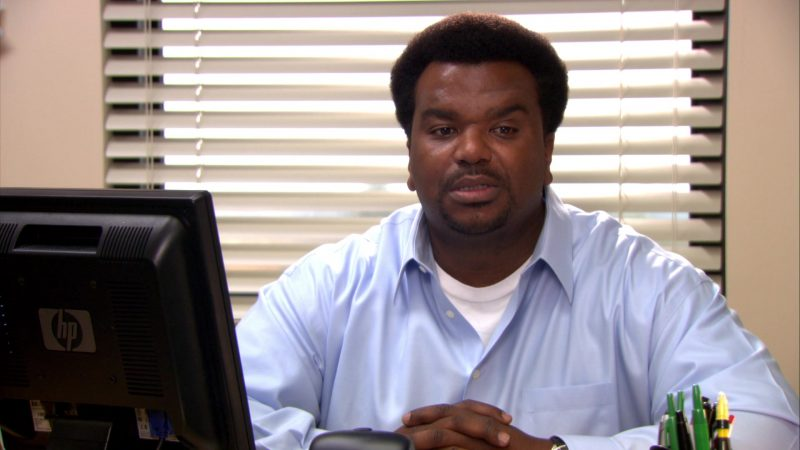 "HP Monitor Used by Craig Robinson (Darryl Philbin) in The Office – Season 8, Episode 13, ""Jury Duty"" (2012) TV Show Product Placement"