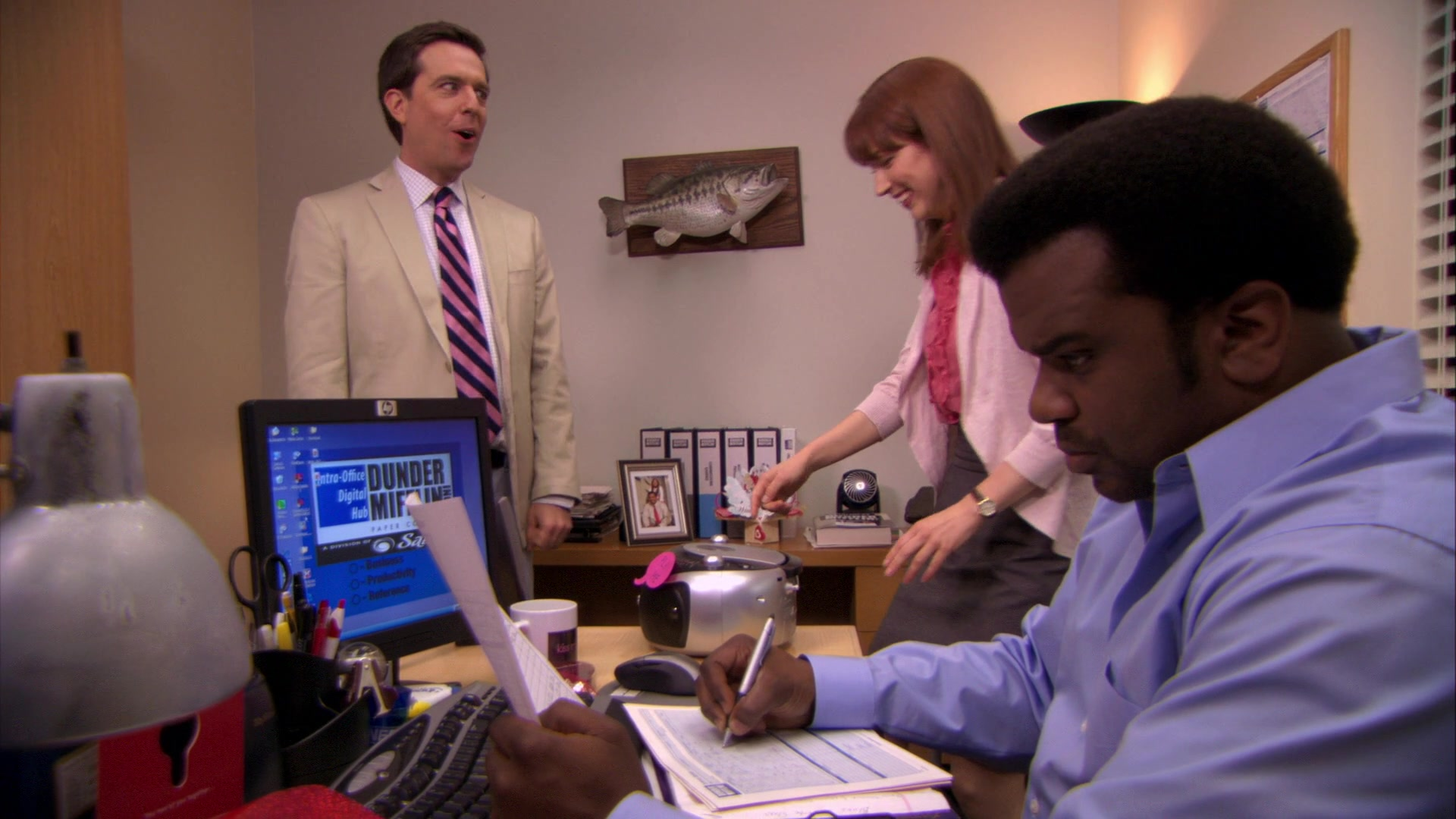 HP Monitor Used by Craig Robinson (Darryl Philbin) in The