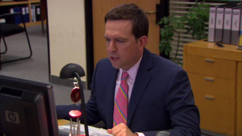 "HP Monitor Used by Ed Helms (Andy Bernard) in The Office – Season 6, Episode 2, ""The Meeting"" (2009) TV Show Product Placement"