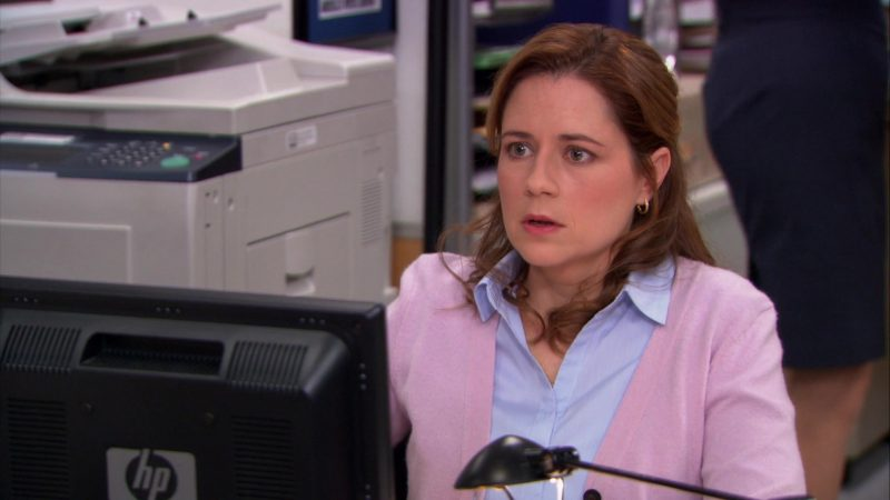 "HP Monitor Used by Jenna Fischer (Pam Beesly) in The Office – Season 9, Episode 21, ""Livin' the Dream"" (2013) - TV Show Product Placement"