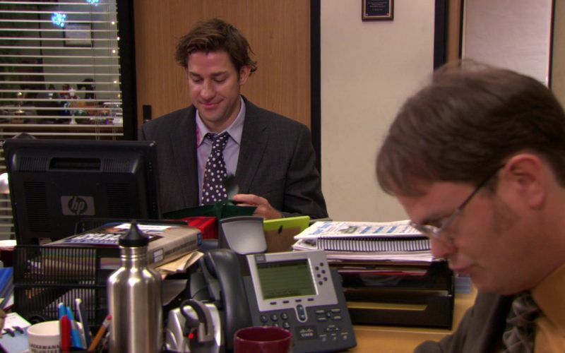HP Monitor Used by John Krasinski (Jim Halpert) and Cisco Phone Used by Rainn Wilson (Dwight Schrute) (1)