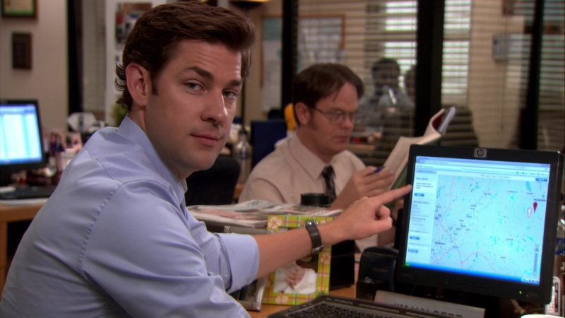 "HP Monitor Used by John Krasinski (Jim Halpert) in The Office – Season 8, Episode 4, ""Garden Party"" (2011) TV Show Product Placement"