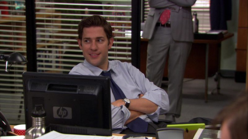"HP Monitor Used by John Krasinski (Jim Halpert) in The Office – Season 8, Episode 3, ""Lotto"" (2011) TV Show Product Placement"