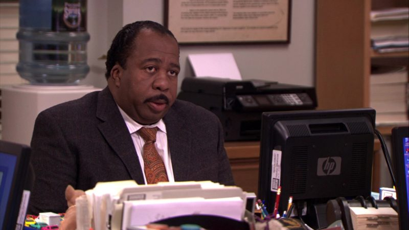 "HP Monitor Used by Leslie David Baker (Stanley Hudson) in The Office – Season 5, Episodes 14-15, ""Stress Relief"" (2009) TV Show Product Placement"