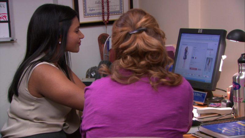 "HP Monitor Used by Mindy Kaling (Kelly Kapoor) in The Office – Season 8, Episode 21, ""Angry Andy"" (2012) - TV Show Product Placement"