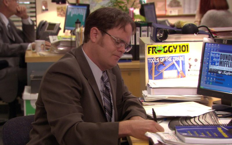 HP Monitor Used by Rainn Wilson (Dwight Schrute) and Froggy 101 Radio Station Sticker in The Office