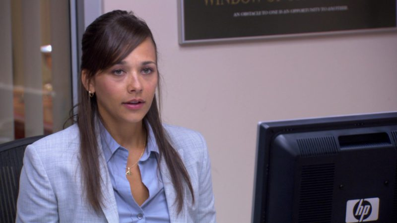 """HP Monitor Used by Rashida Jones (Karen Filippelli) in The Office – Season 3, Episode 5, """"Initiation"""" (2006) - TV Show Product Placement"""