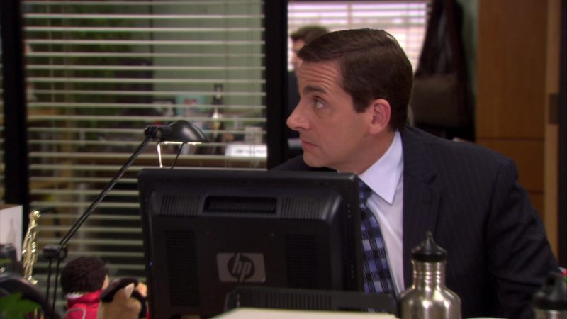 """HP Monitor Used by Steve Carell (Michael Scott) in The Office – Season 6, Episode 16, """"The Manager and the Salesman"""" (2010) - TV Show Product Placement"""
