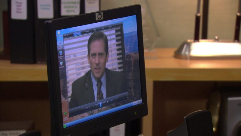 """HP Monitor Used by Steve Carell (Michael Scott) in The Office – Season 7, Episode 13, """"Ultimatum"""" (2011) - TV Show Product Placement"""