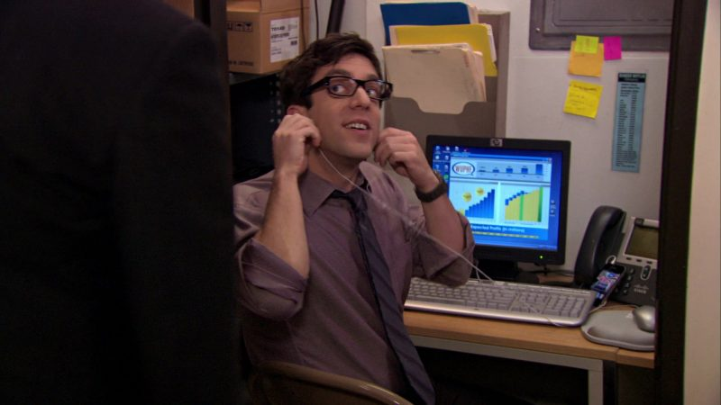 "HP Monitor and Cisco Phone Used by B. J. Novak (Ryan Howard) in The Office – Season 7, Episode 9, ""WUPHF.com"" (2010) TV Show"