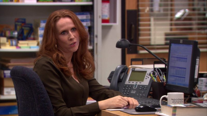 "HP Monitor and Cisco Phone Used by Catherine Tate (Nellie Bertram) in The Office – Season 9, Episode 13, ""Junior Salesman"" (2013) TV Show Product Placement"