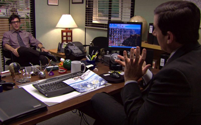 HP Monitor and Microsoft PC Keyboard Used by Steve Carell (Michael Scott) in The Office