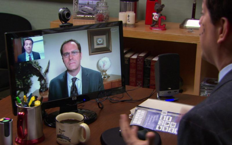 HP Monitor and Skype Application Used by Ed Helms (Andy Bernard) in The Office