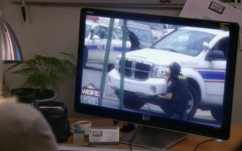 HP Pavilion 2509m Monitor & WBRE-TV Online Television Channel in The Office (1)
