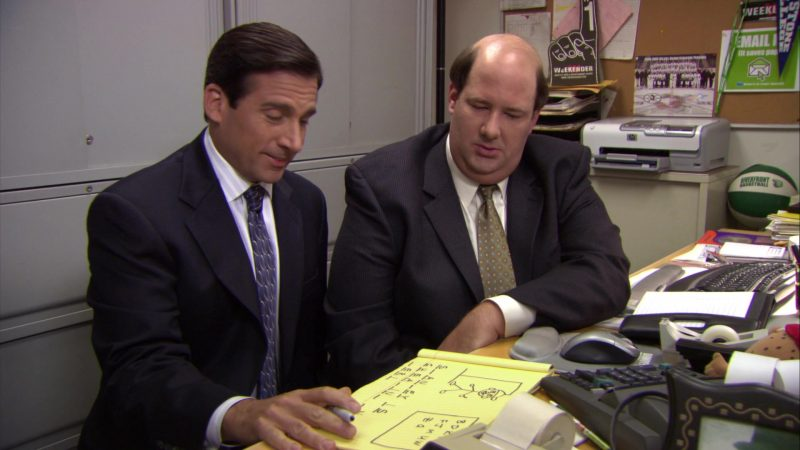 """HP Printer Used by Brian Baumgartner (Kevin Malone) in The Office – Season 6, Episode 1, """"Gossip"""" (2009) TV Show"""